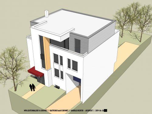 Moderne Stadtvilla mit 3 Eigentumswohnungen